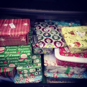 My trunk was completely full of shoeboxes!!
